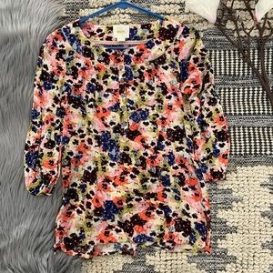ANTHRO▪️Pansy Field Pleasant Blouse. Sz 0